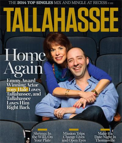 Tony Hale on the cover of Tallahassee Magazine. Photo by Scott Holstein